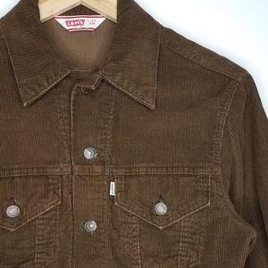 Vintage Levi's Brown Corduroy Trucker Jacket
